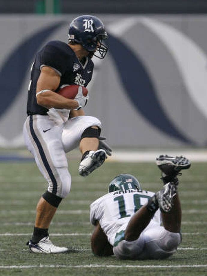 James Casey broke Rice's single-game receiving record with 208 yards. Photo: Karen Warren, Chronicle