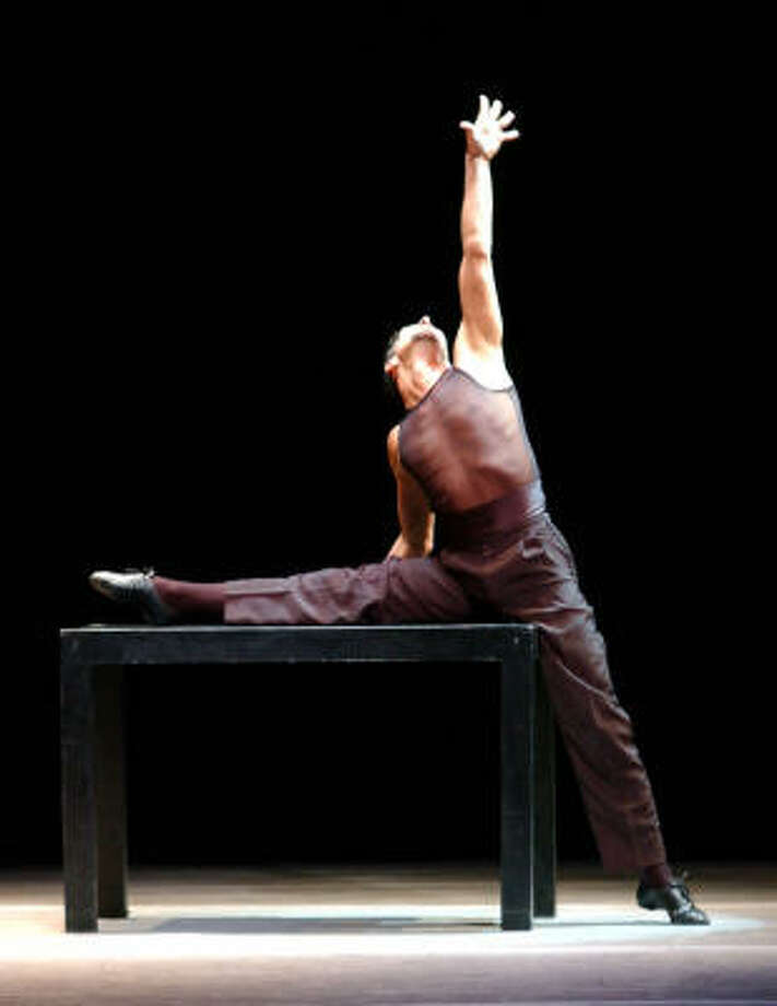 Julio Bocca and Ballet Argentino will present Bocca Tango, right, performed by Gustavo Levy, Nov. 1 as part of the Society for the Performing Arts' 2007-08 season. Photo: SPA