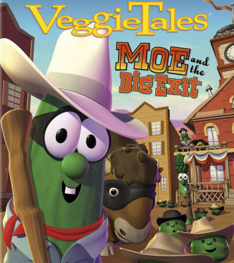 VeggieTales' newest movie, Moe and the Big Exit, turns the Old Testament story of Moses and the Exodus into a Western with cowboy hats, belt buckles and all. Photo: Courtesy Photo, Big Idea Productions