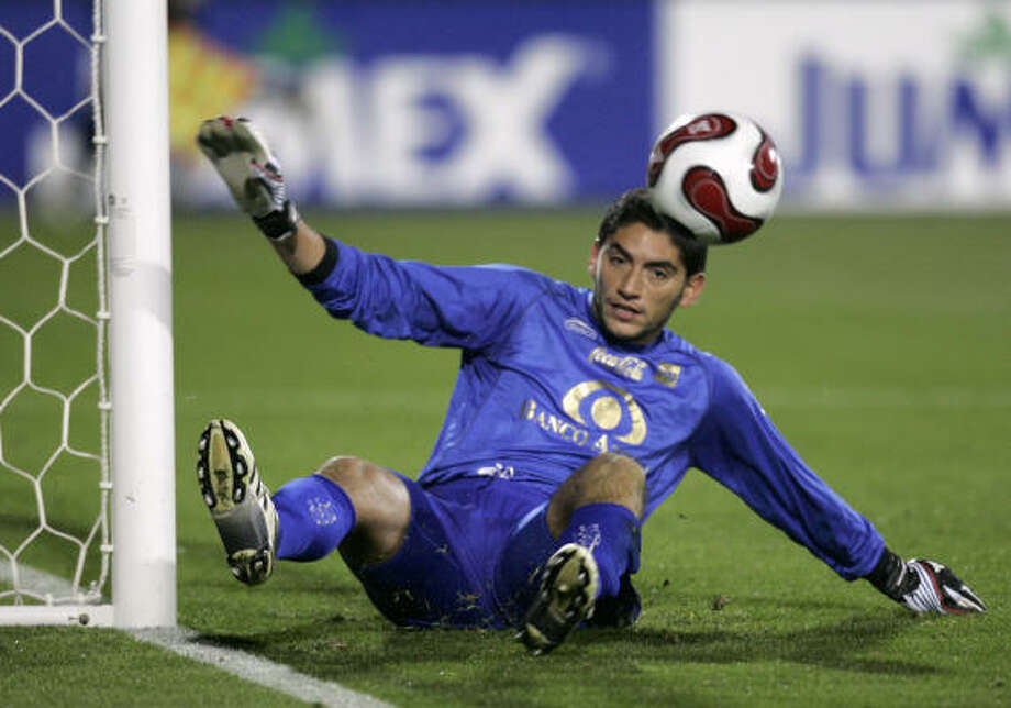 InterLiga action (with UAG Tecos goalkeeper Jose de Jesus Corona) — is it fan-tastic? Photo: Tony Gutierrez, AP