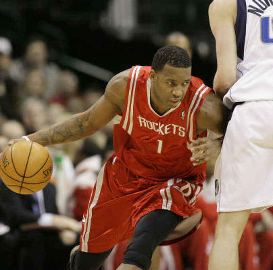 Tracy McGrady finished with 20 points on 7-for-16 shooting. Photo: Matt Slocum, AP