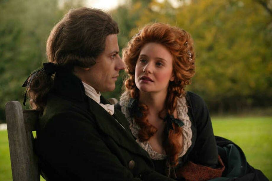 Ioan Gruffudd as William Wilberforce, with Romola Garai as Barbara Spooner, in Amazing Grace. Photo: Samuel Goldwyn Films