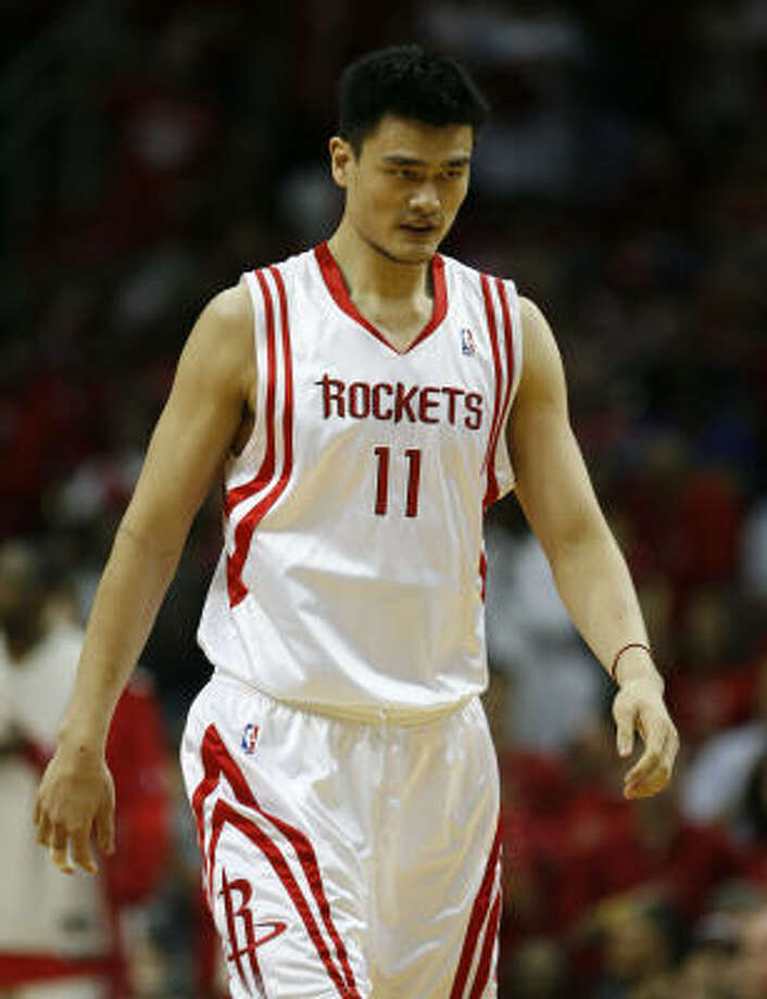 Yao Ming said he deserves the blame after the Rockets failed to move out of the first round. Photo: James Nielsen, Chronicle