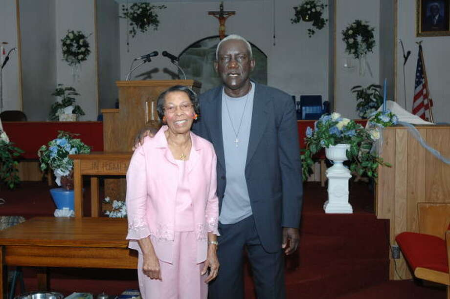 Rev. Melvin Smith and wife, Estella, recently celebrated his forty years of leading the congregation at St. James Missionary Baptist Church, 5546 Teague Road. Photo: Eddy Matchette, FOR THE CHRONICLE