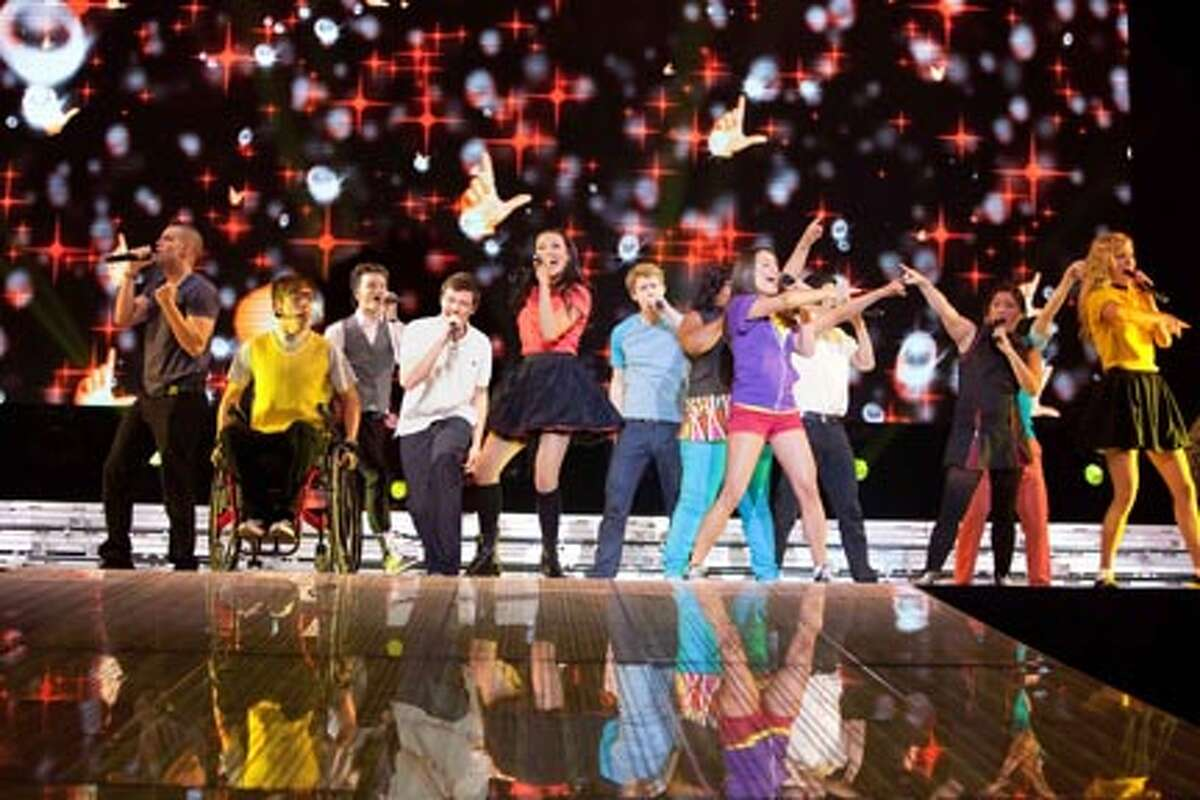 """A scene from """"Glee the 3D Concert Movie."""""""