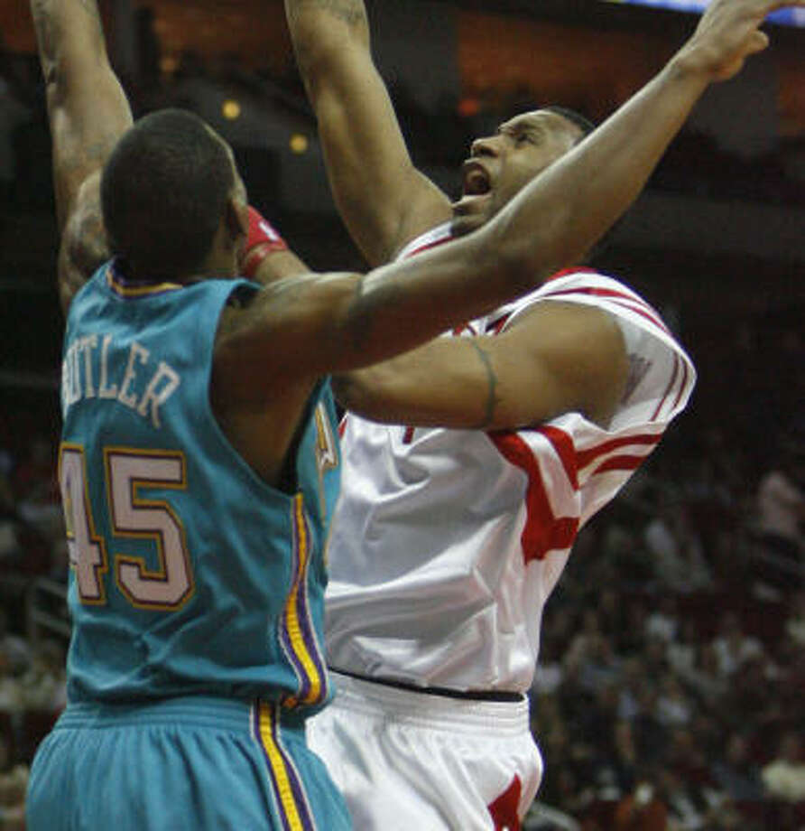 Tracy McGrady said the Rockets are capable of beating any team on any night. Photo: Carlos Antonio Rios, Chronicle