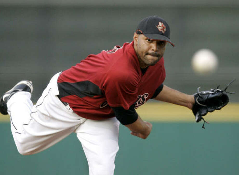 Astros' Shawn Chacon to take the hill tonight at Minute Maid. Photo: Tony Dejak, AP