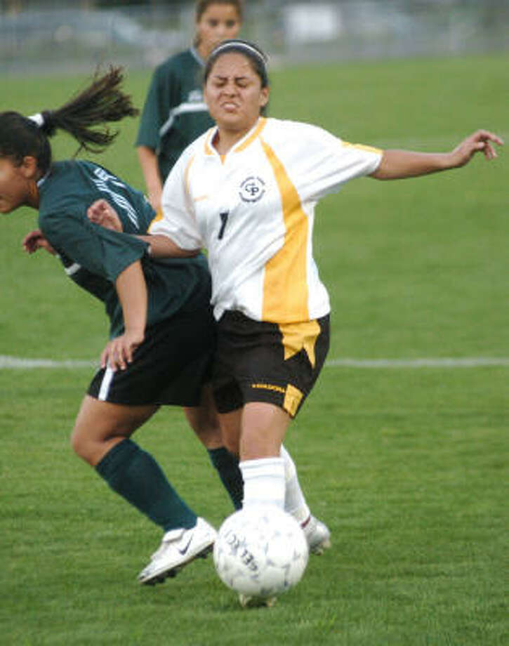 Diana Aguillon and Galena Park came out on top in their playoff game agaist Austin. Photo: Kirk Sides