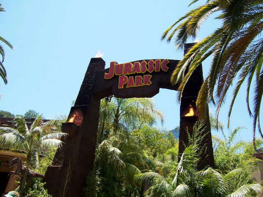 The entrance to Jurassic Park and Universal's Islands of Adventure in Orlando, Fla. Photo: Arthur Frommer, King Features Syndicate