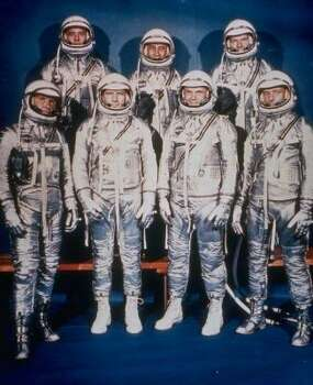 NASA's original seven Mercury astronauts were, bottom row from left, Walter Schirra Jr., Donald Slayton, John Glenn, Scott Carpenter; top row, Alan Shepard Jr., Virgil Grissom and Gordon Cooper. With Schirra's death on Thursday, only two — Carpenter and Glenn — are still living today. Photo: AP