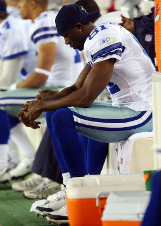 Terrell Owens and the Cowboys were left to wonder what might have been Sunday. Photo: Jim McIsaac, Getty Images