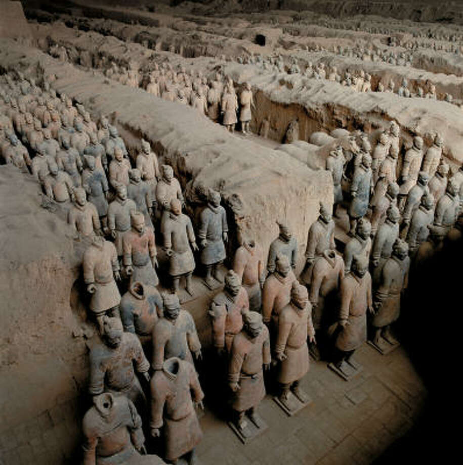 """Qin's Army,"" designed to protect notorious Chinese emperor Qin Shi Huang in his afterlife, fills more than 170,000 square feet. Photo: Viking River Cruises"