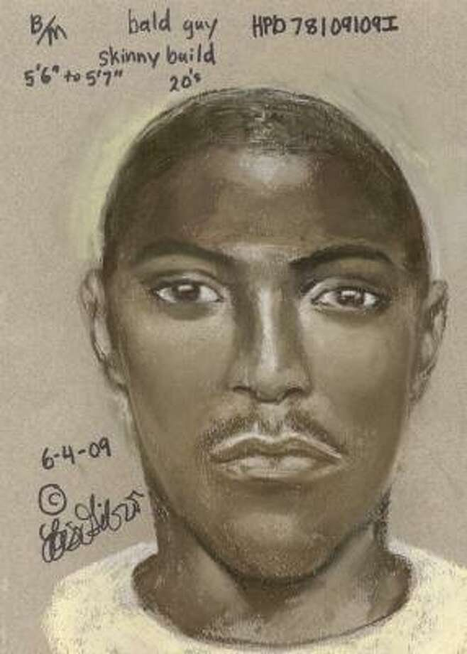 This is a sketch of a suspect in the May 29 shooting death of Johnie Mackey. Photo: Crime Stoppers