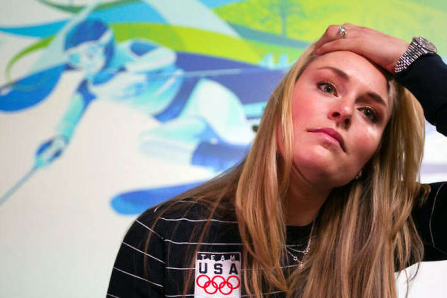 "At a news conference Wednesday, Lindsey Vonn said there was ""a possibility"" she would have to pull out of one or more events. Photo: Smiley N. Pool, Chronicle"