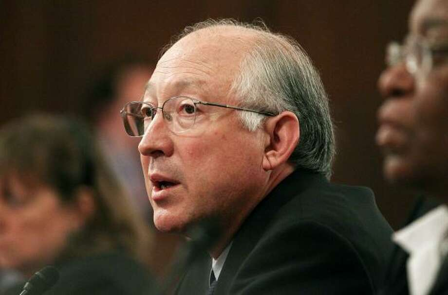 "Interior Secretary Ken Salazar, testifying Tuesday in Washington about the Deepwater Horizon disaster, said that ""to the extent that MMS employees were involved in any kind of negligence  … they will also be held accountable."" Photo: Mark Wilson:, Getty Images"