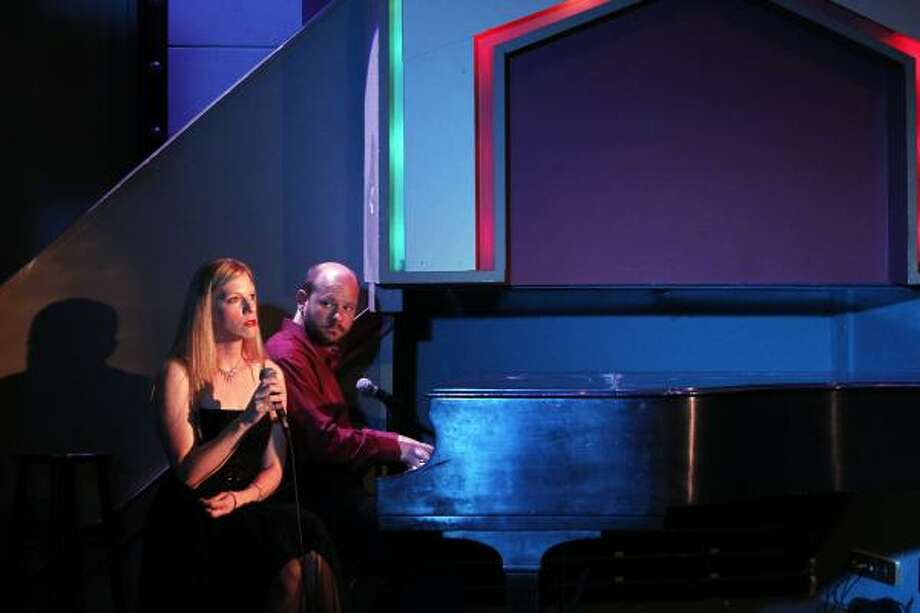 Susan Draper and David Wald perform in It's Only Life. Photo: Johnny Hanson, Houston Chronicle