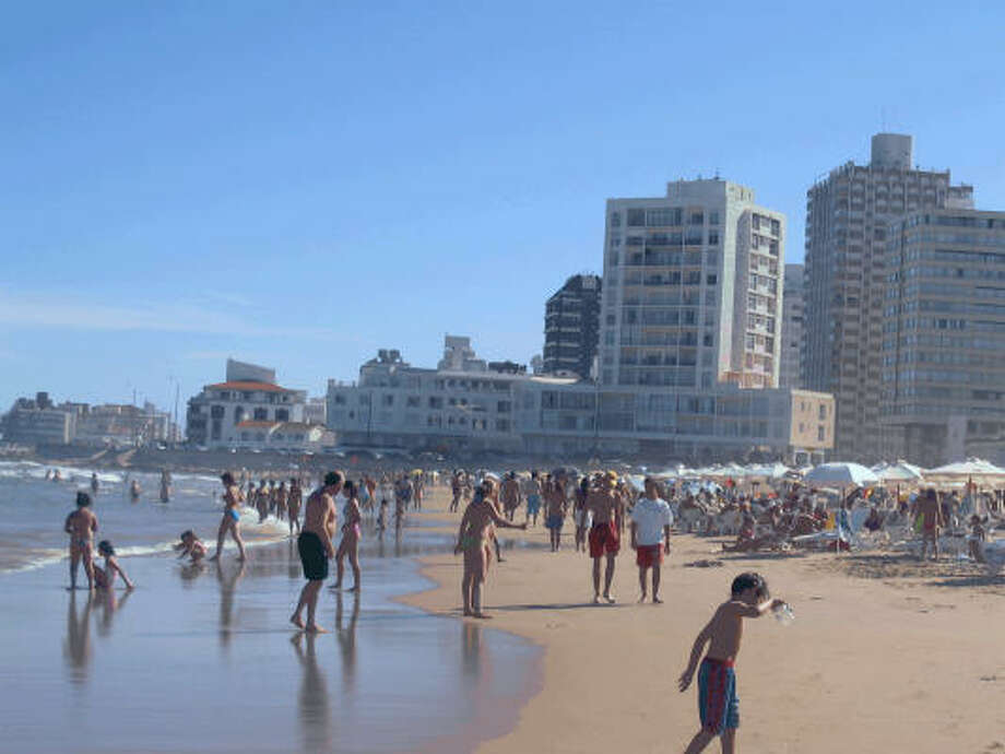 The beach at Punta del Este. Photo: King Features