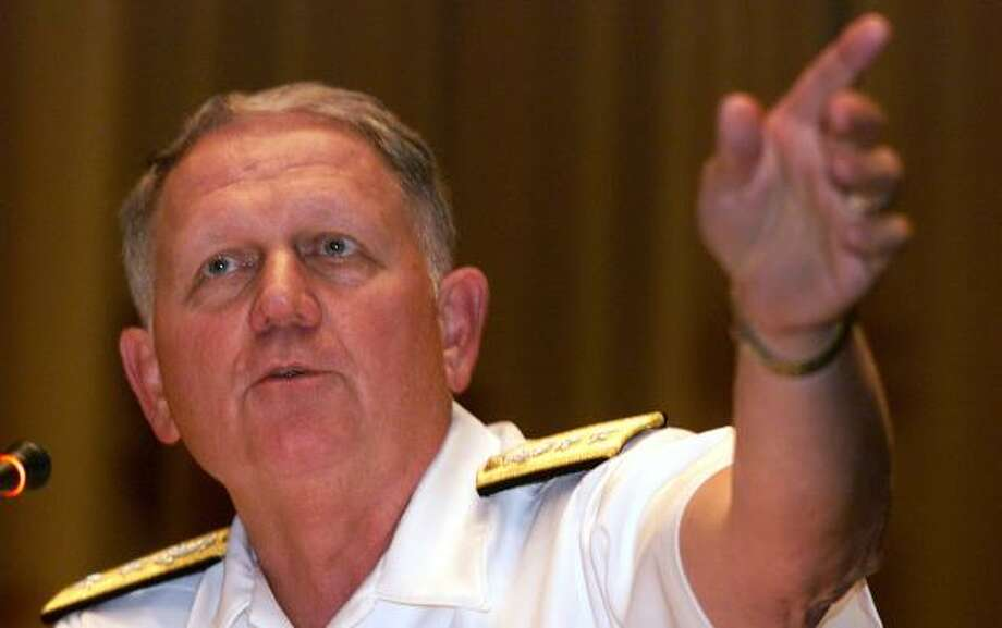 Retiring Naval Academy Superintendent Rodney Rempt was criticized for his handling of the Lamar Owens rape case. Photo: STEW MILNE, ASSOCIATED PRESS