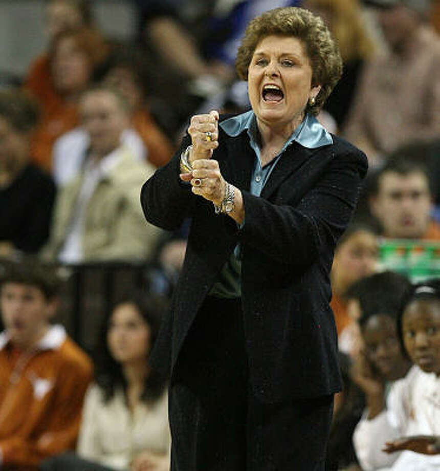 "Longhorns coach Jody Conradt says her recent teams ""haven't lived up to Texas standards."" Photo: Deborah Cannon, AP"