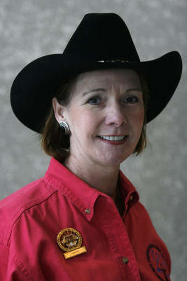 Jeanne Shirey-Lord has volunteered for 25 years at RodeoHouston. Photo: Johnny Hanson, For The Chronicle