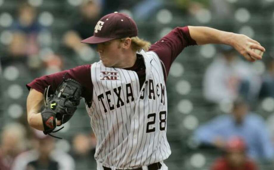 Kirkland Rivers and the Texas A&M Aggies picked up a win over Texas at the Big 12 tournament. Photo: AP