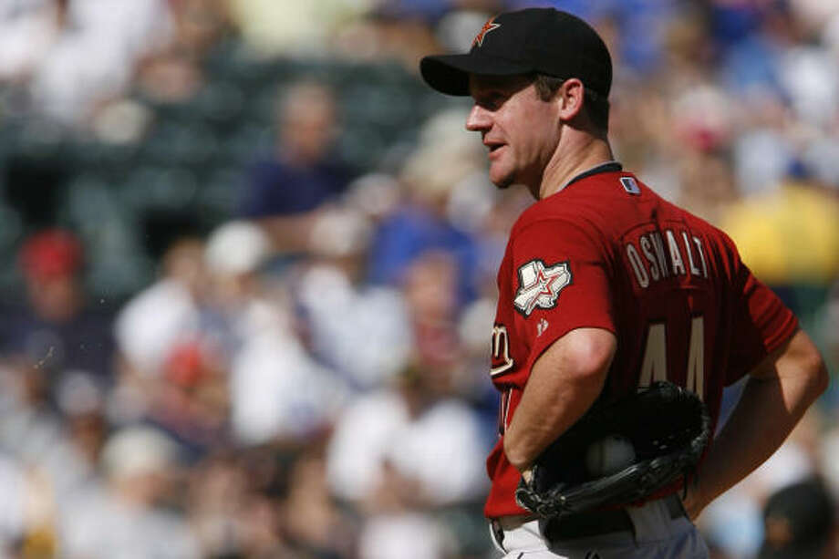 Roy Oswalt finished sixth in player voting, making him the automatic replacement for John Smoltz. Photo: Karen Warren, Chronicle