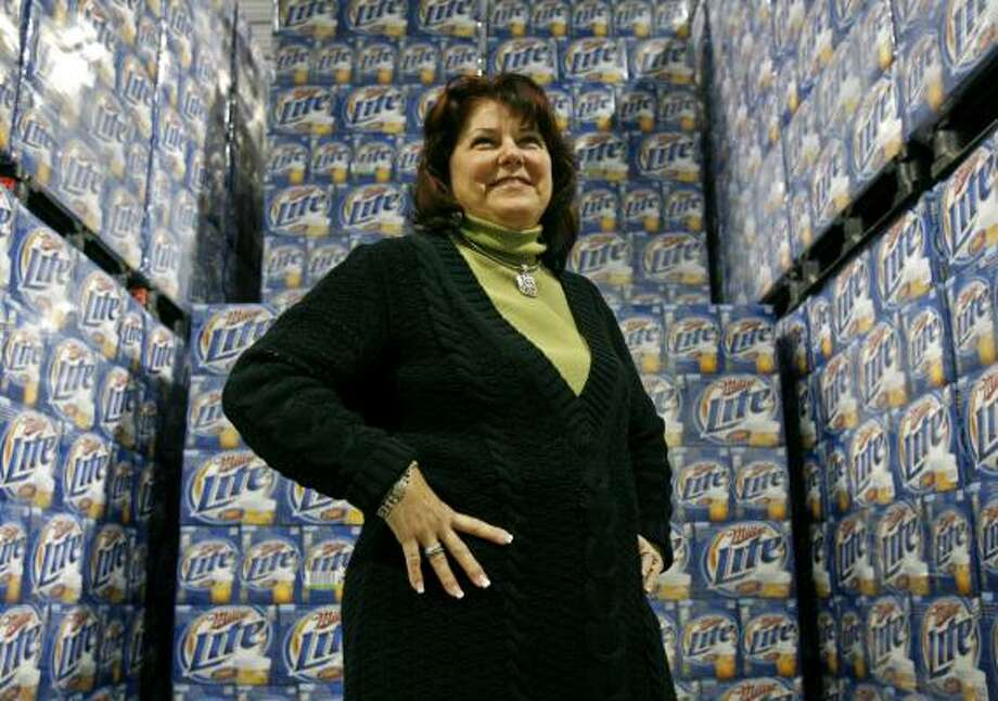 Betty Buck, of Buck Distributing in Maryland, says consolidation among beer distributors makes sense. Photo: JACQUELYN MARTIN, ASSOCIATED PRESS