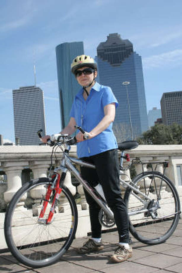 Lilibeth Andre, the city's bicycle-pedestrian coordinator since 2001, is in charge of the roll-out of the Houston Comprehensive Bikeway Network Plan, which aims to encourage cycling as a way to reduce the use of cars. Photo: Kenzie DelaTorre, For The Chronicle