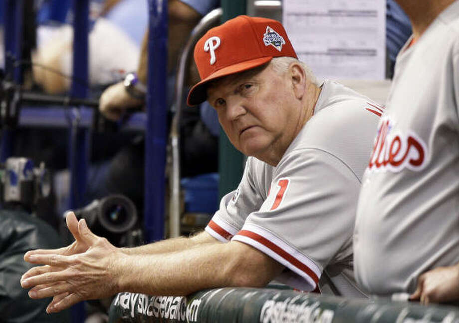 Charlie Manuel has never had a losing full season in stints as manager of the Indians and Phillies. Photo: David J. Phillip, AP