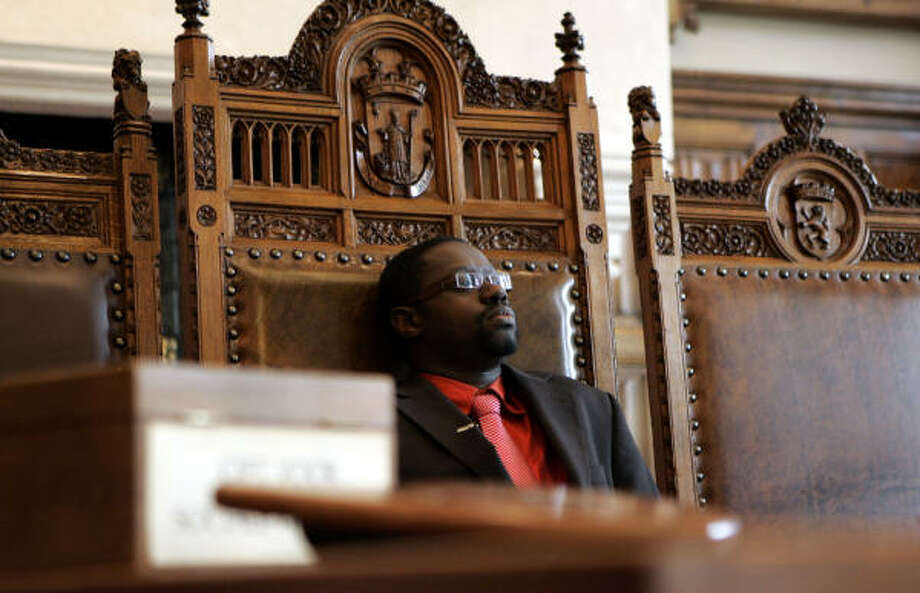 Alderman of the East Flemish city of Sint-Niklaas, Wouter Van Bellingen, was snubbed by three racist couples who refused to be married by him. Photo: VIRGINIA MAYO, AP