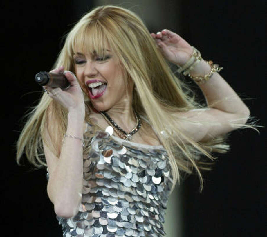 Fans who couldn't hear Hannah Montana, a fictional Disney character played by Miley Cyrus, during her RodeoHouston performance can get a full refund. Photo: Jessica Kourkounis, For The Chronicle