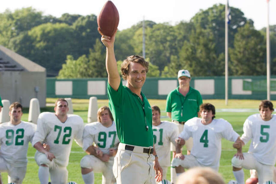 A coach (Matthew McConaughey) must rebuild his football team after a terrible accident, in We Are Marshall. Photo: Warner Bros.