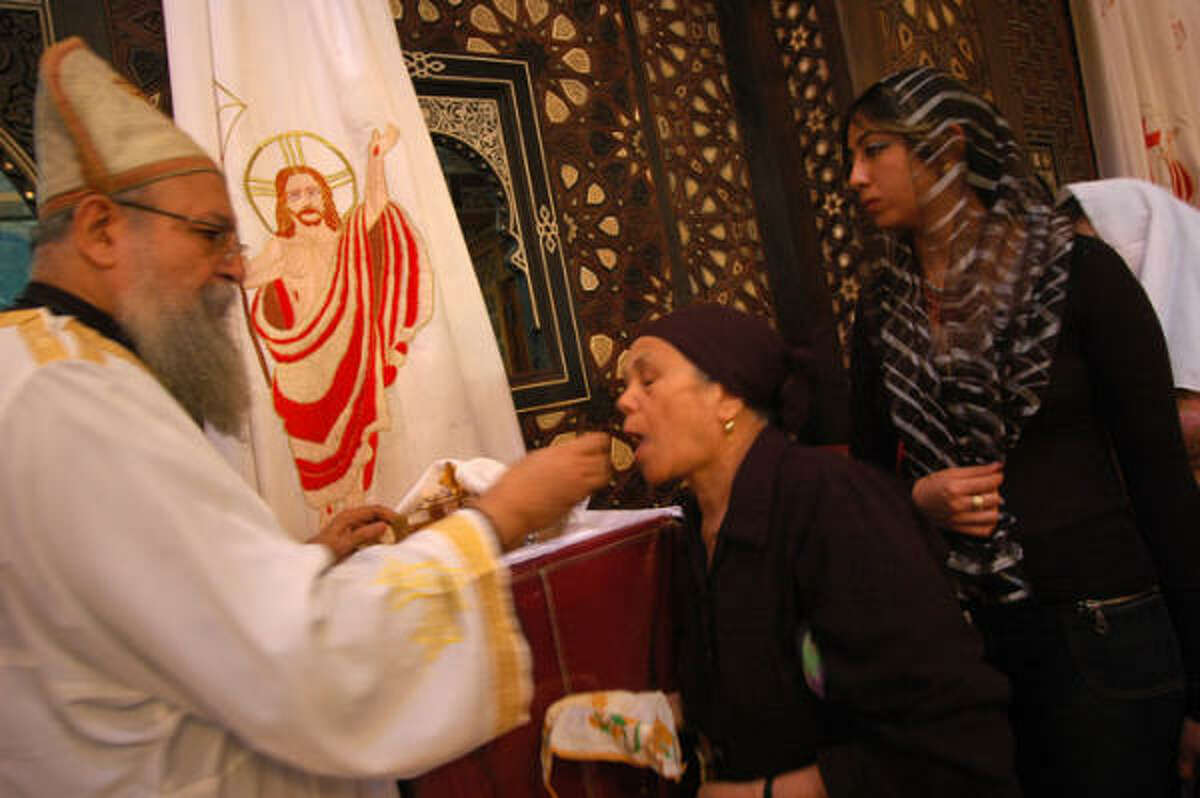 Antonio Michael presides over services at Hanging Church in Cairo, Egypt. The Coptic church is considered the oldest church in the area of Old Cairo.