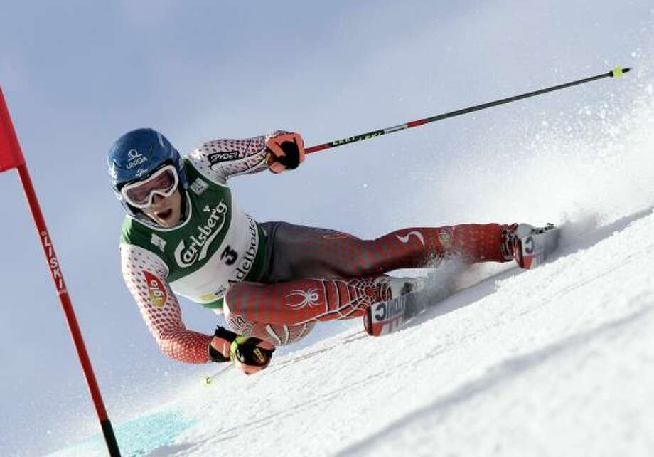 Austria's Benjamin Raich captured his first World Cup giant slalom of the year Saturday. Photo: Agence Zoom, Getty Images