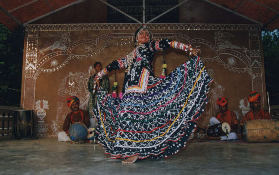 Folkloric dancers will wear brilliantly colored costumes to perform traditional dances in Colors of Gypsies of Rajasthan. Photo: Indo-American Association Of Houston