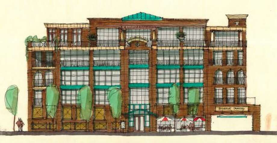 Architect Tim Cisneros and developer Regan and Riley of Montgomery's plans to create a 40-unit condominium building now includes 40 town homes and garden villas on various plots of land near the Ashland Tea House site at 1801 Ashland. The building, named to the National Register of Historic Places in 1983, was demolished on Jan. 30, 2006. Photo: Cisneros Design Studio