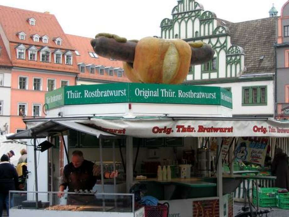 German archives suggest Thuringian Rostbratwurst, a worshipped sausage, was regulated in 1432, before the world-renowned Bavarian beer purity law of 1516. Photo: CRAIG WHITLOCK, WASHINGTON POST