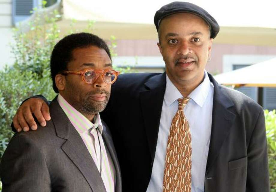 Filmmaker Spike Lee, left, and novelist James McBride traveled to Rome for movie research. Photo: SANDRO PACE, ASSOCIATED PRESS