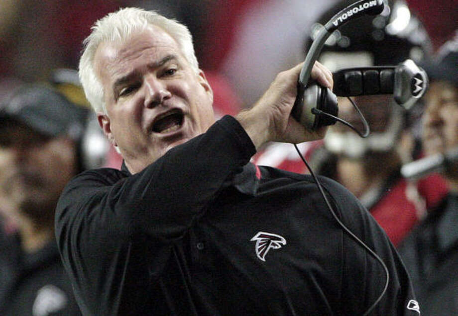 Mike Smith led the Falcons to an 11-5 finish after taking over as head coach in 2008. Atlanta was 4-12 the season before. Photo: Dave Martin, AP