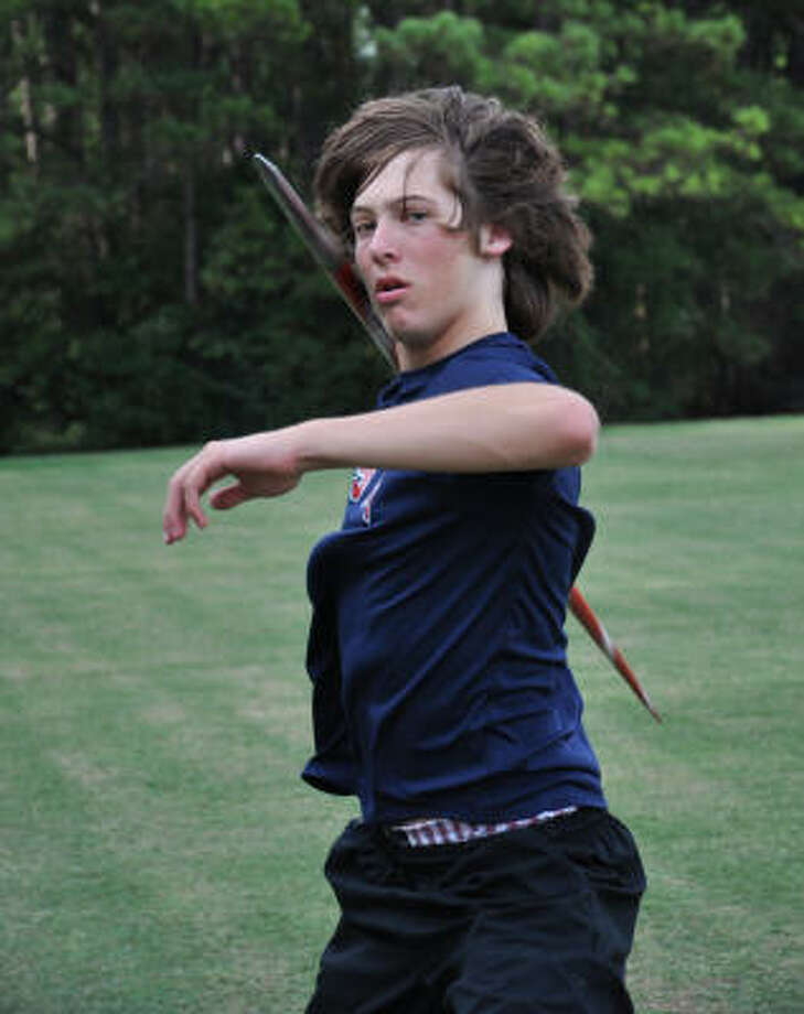 Hovering around 6-2, 170 pounds, Devin Bogert may be built more like the average javelin than the average junior javelin thrower. Photo: Chris Elliott, For The Chronicle