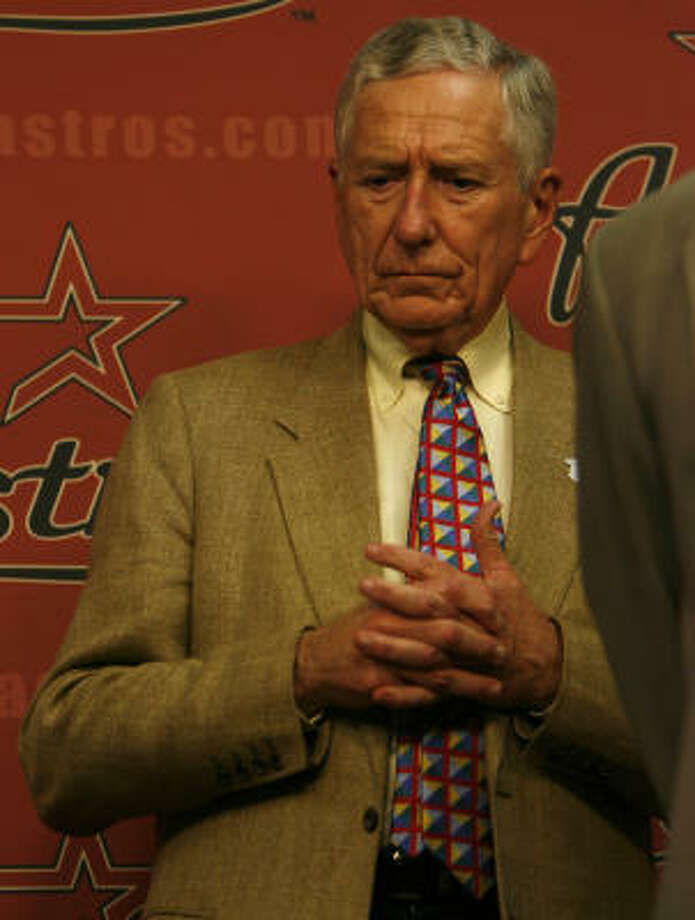 Drayton McLane has been thinking about life after baseball in the last two years. Photo: Karen Warren, Houston Chronicle