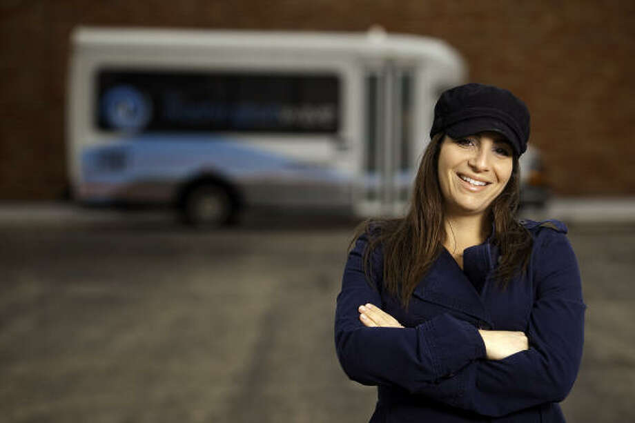 Lauren Barrash is the owner of the Washington Wave, a new jitney service that operates along the busy Washington Avenue. Photo: TODD SPOTH