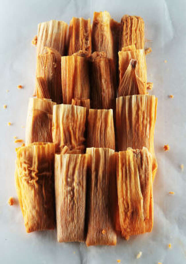 Tamales are a vital part of the Christmas holidays throughout Texas and the Southwest. Photo: James Nielsen, Chronicle