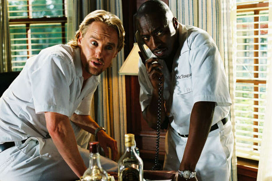 Owen Wilson, left, as Neil King and Eddie Griffin as McTeague. Photo: Thinkfilm