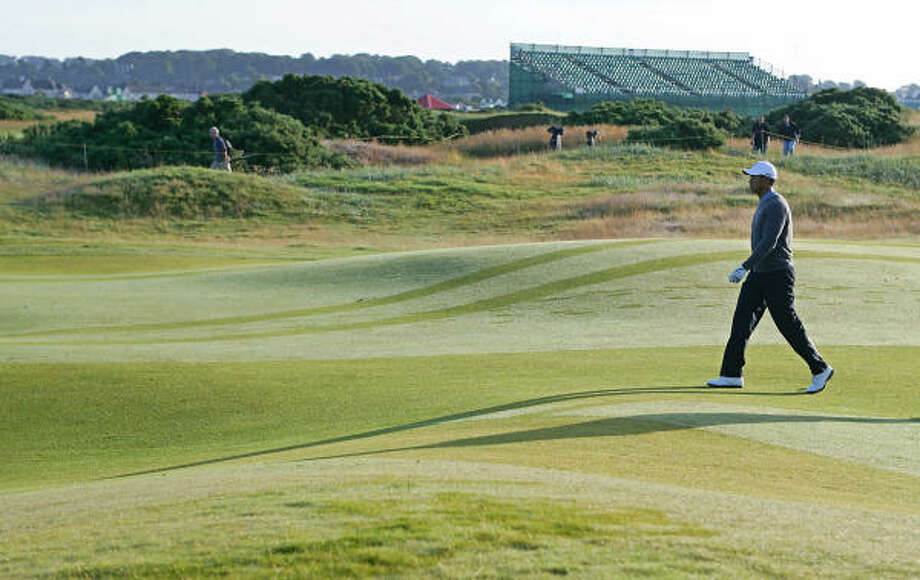 Tiger Woods says he enjoys playing the British Open because the tournament's links-style courses afford him the opportunity to be creative and try different types of shots. Photo: PAUL ELLIS, AFP/Getty Images