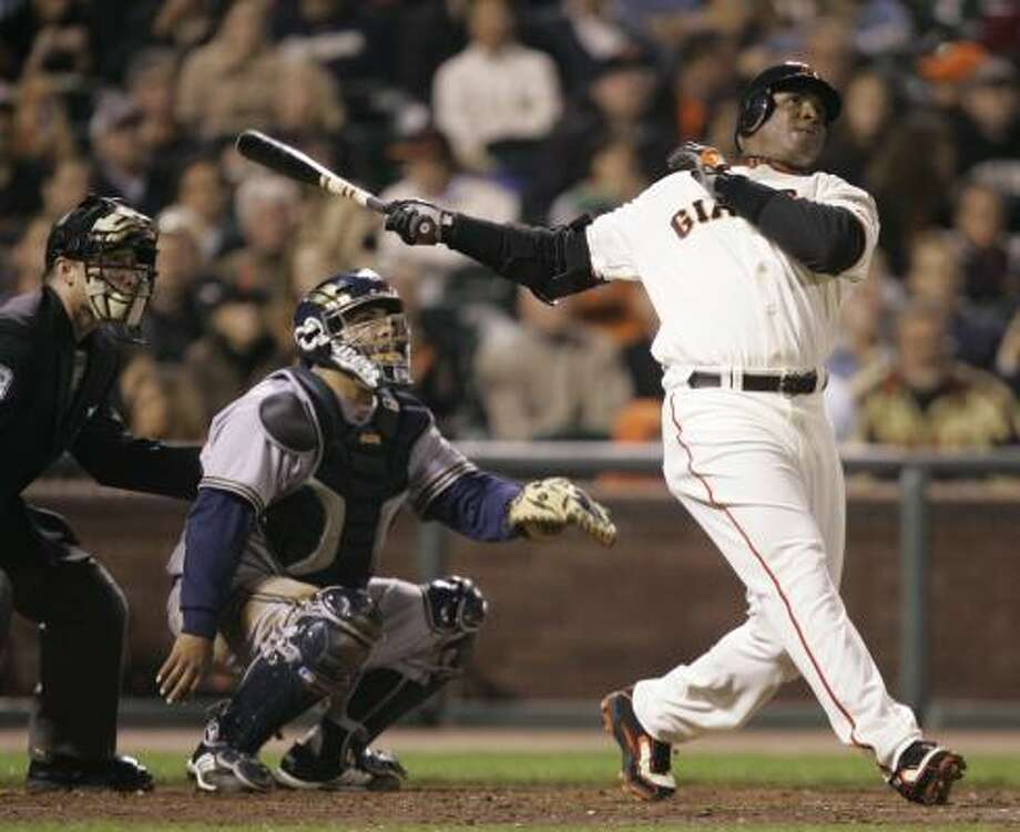 Despite breaking the all-time home run mark, Barry Bonds has not received offers from corporate sponsors. Photo: Marcio Jose Sanchez, AP