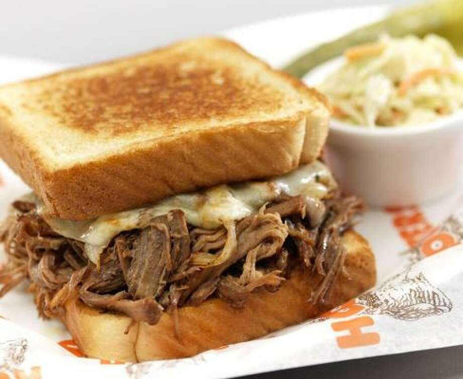 The new Sunday Pot Roast Sandwich is part of Hooters' new Football Menu. Photo: Hooters Of America