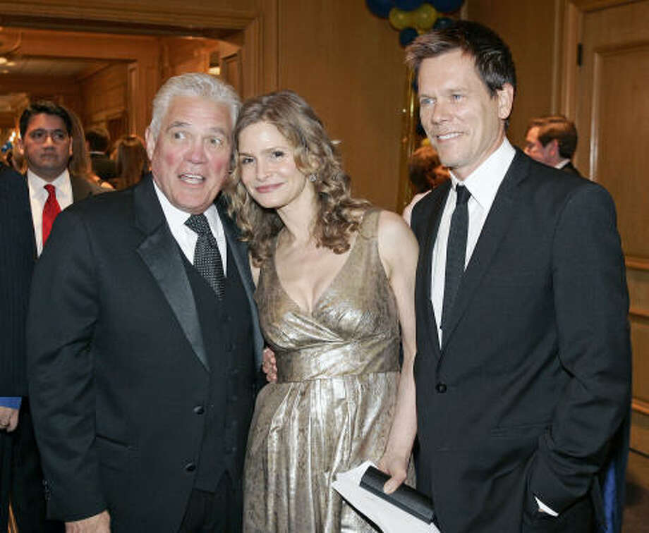 G.W. Bailey, left, Kyra Sedgwick and Kevin Bacon led the cheers and tears at the Sunshine Kids Foundation's 25th-anniversary gala. Photo: Craig H. Hartley, For The Chronicle
