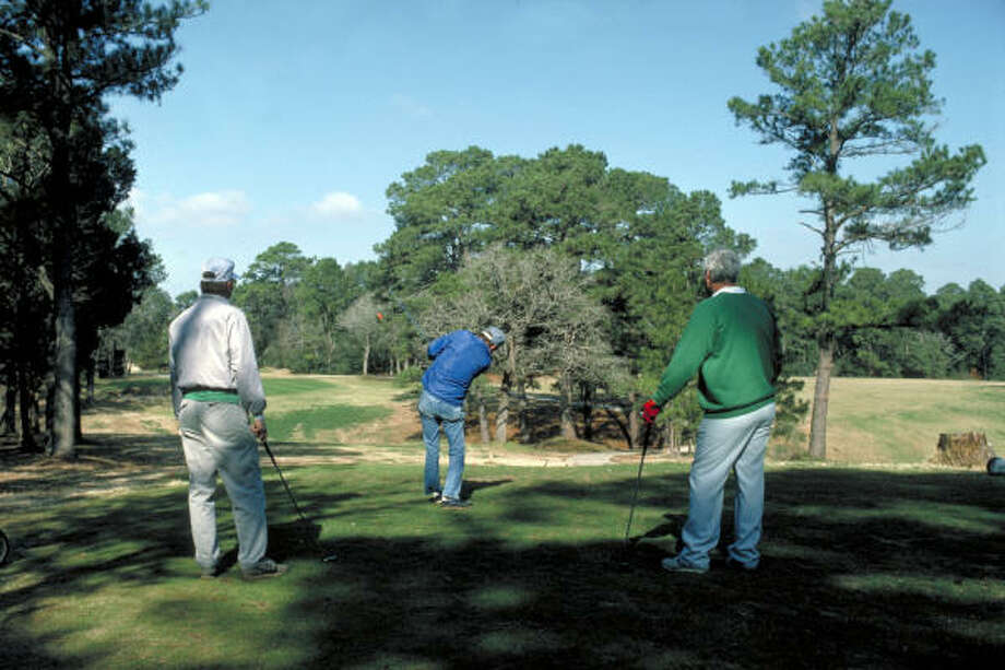 Weekend duffers as well as  low-handicappers enjoy the tree-lined fairways and spacious greens at Lost Pines. Photo: Texas Parks And Wildlife