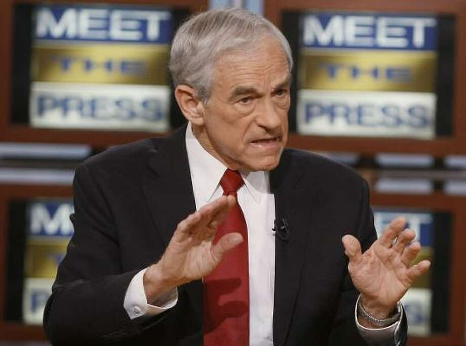 Ron Paul's appearance on NBC's Meet the Press on Sunday turned heated. Photo: Mark Wilson, MEET THE PRESS